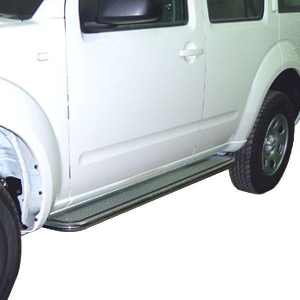 Estribos en plataforma de aluminio con tubo inox Ø50mm AFN para Nissan Pathfinder 2005- -