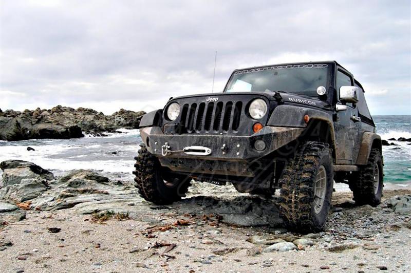 Parachoques frontal con base de cabestrante AFN para Jeep Wrangler 2007- -