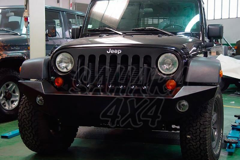 Parachoques frontal sin base de cabestrante AFN para Jeep Wrangler 2007- -