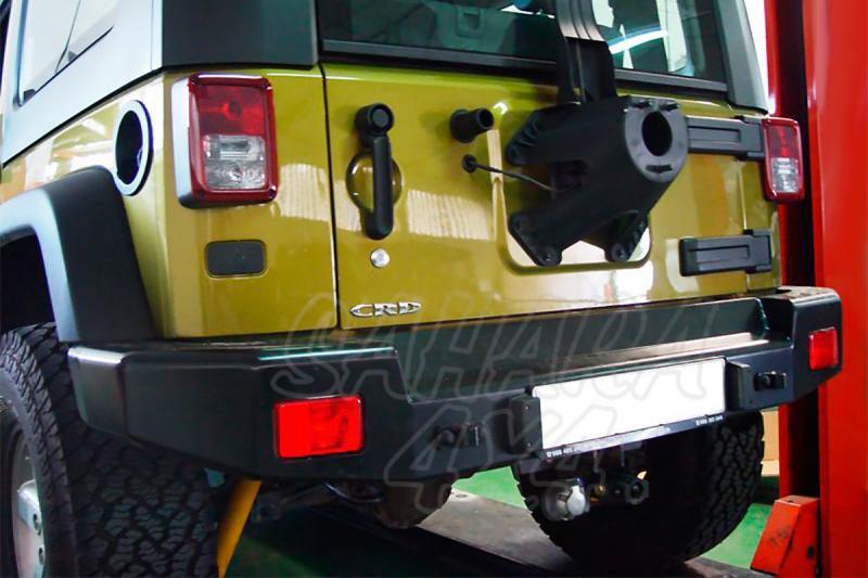 Parachoques trasero con huecos para pilotos AFN para Jeep Wrangler 2007-  -
