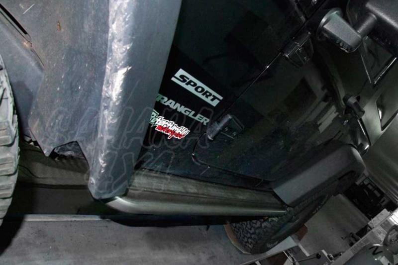 Taloneras/protecciones laterales para gato para Jeep Wrangler 2007- (3 puertas) - (con aluminio antideslizante)