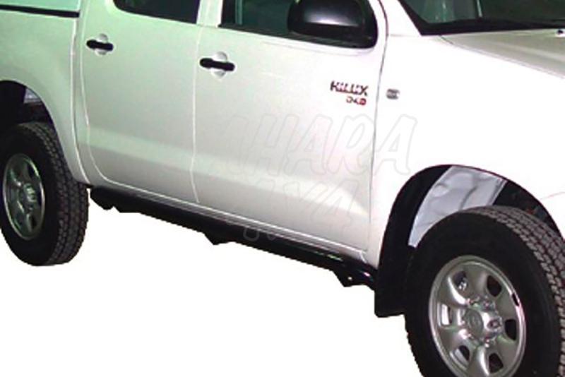 Estribos en tubo inox Ø70mm AFN para Toyota Hilux Vigo 2005-2016  - Para Doble cabina
