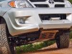 Conjunto de protecciones AFN para Toyota Hilux Vigo 2005-2016 - Cárter, barras de dirección y diferencial en acero zincado 4mm