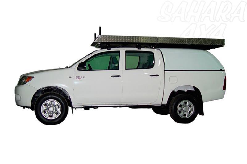 Baca de carga cerrada transitable en aluminio para cabina y hardtop para Toyota Hilux Vigo 05-16