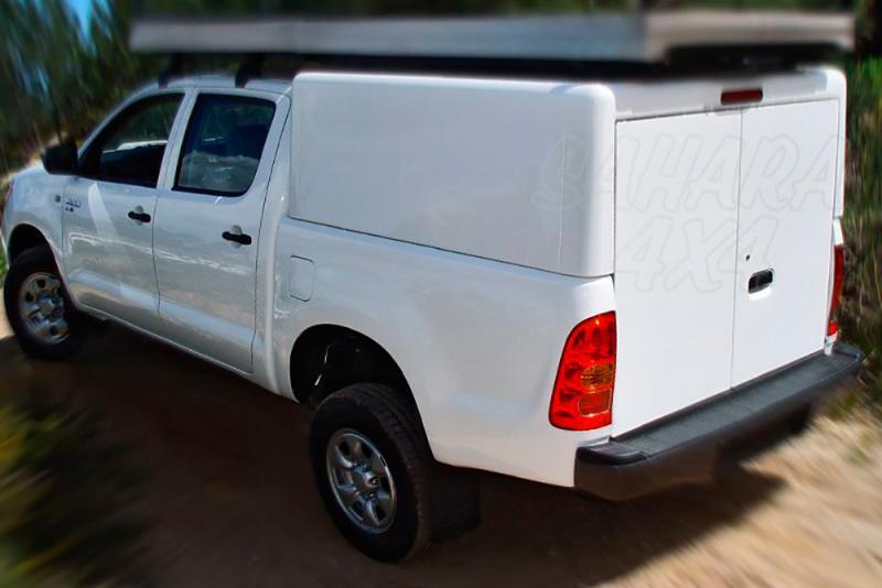 HardTop en aluminio sin ventalas laterales para Toyota Hilux Vigo 2005-2016 - Para Doble cabina