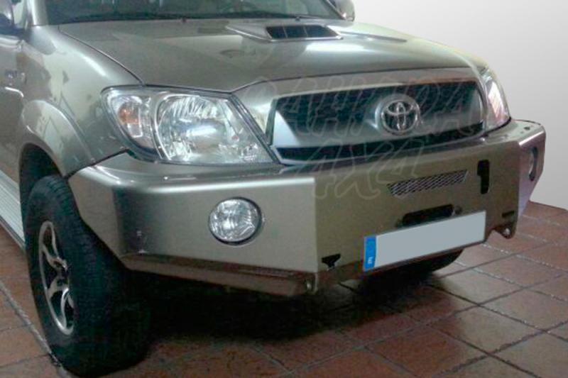 Parachoques frontal con base de cabestrante AFN para Toyota Hilux Vigo - Con huecos para antinieblas