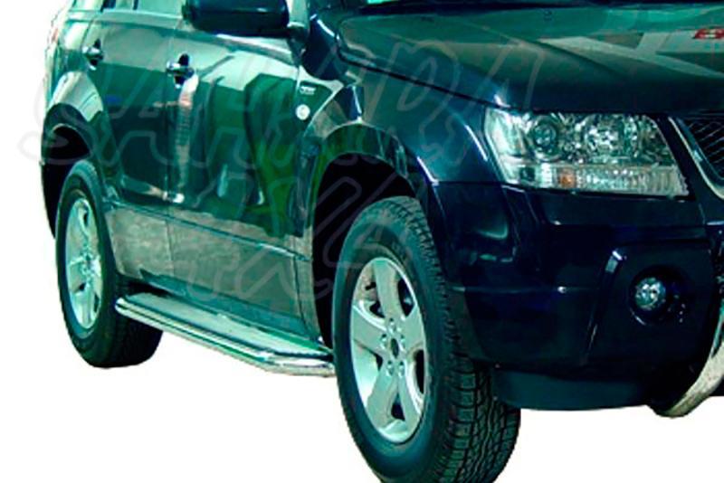 Estribos en plataforma de aluminio con tubo inox Ø50mm AFN para Suzuki Grand Vitara 2005-2008 - Para 5 puertas