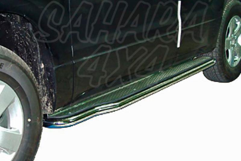 Estribos en plataforma de aluminio con tubo inox V2 AFN para Suzuki Grand Vitara 2005-2008 - Para 5 puertas