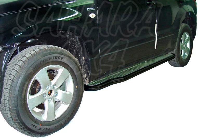 Estribos en plataforma de aluminio con tubo negro V2 AFN para Suzuki Grand Vitara 2005-2008 - Para 5 puertas