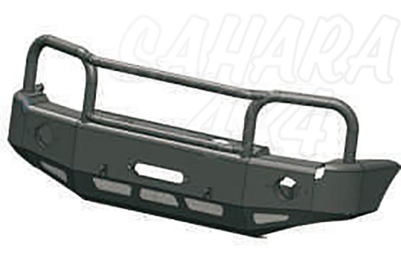 Parachoques frontal con base de cabestrante con huecos para faros AFN para Suzuki Jimny 2003- - Versión África. Sólo modelos gasolina