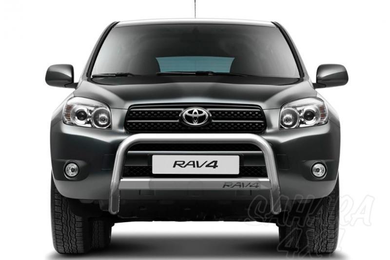 Defensa central inox con tubo. Homologación CE AFN para Toyota Rav4 2006-2009 -
