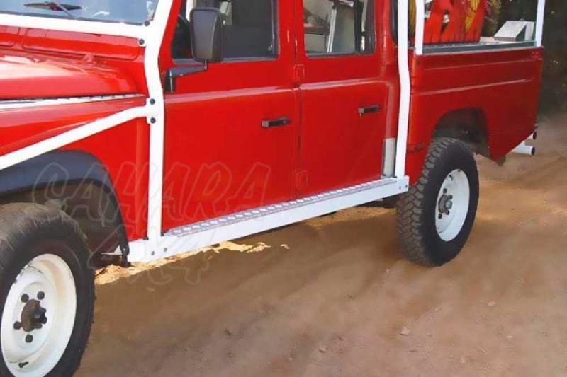 Taloneras/protecciones laterales AFN para gato con aluminio antideslizante - Para Land Rover Defender 130 sólo 1985-2008