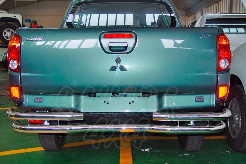 Parachoques trasero en doble tubo inox AFN para Mitsubishi L-200 Triniti 2006-2009 -