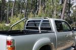 Rollbar (barras antivuelco) en tubo inox, con protección para Ford Ranger/Mazda BT50 06-12  - Rollbar (barras antivuelco) en tubo inox, con protección de cristal de cabina (doble cabina).