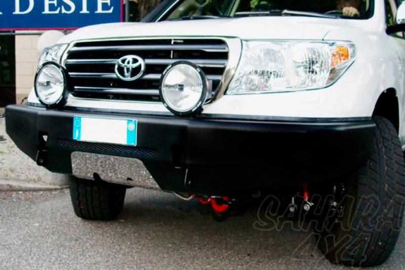 Parachoques frontal con base de cabestrante y sin huecos de faros AFN para Toyota LandCruiser HDJ200
