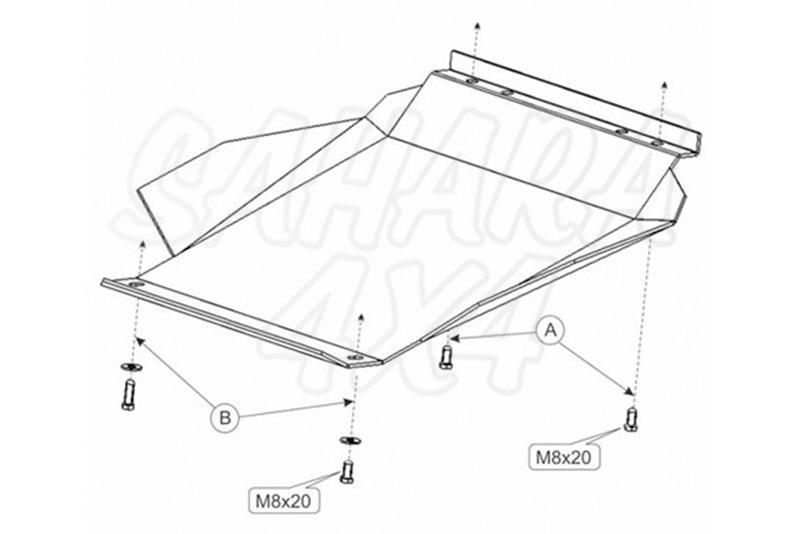Protección de cárter en acero 2mm para Toyota 4Runner 1987-1995 -