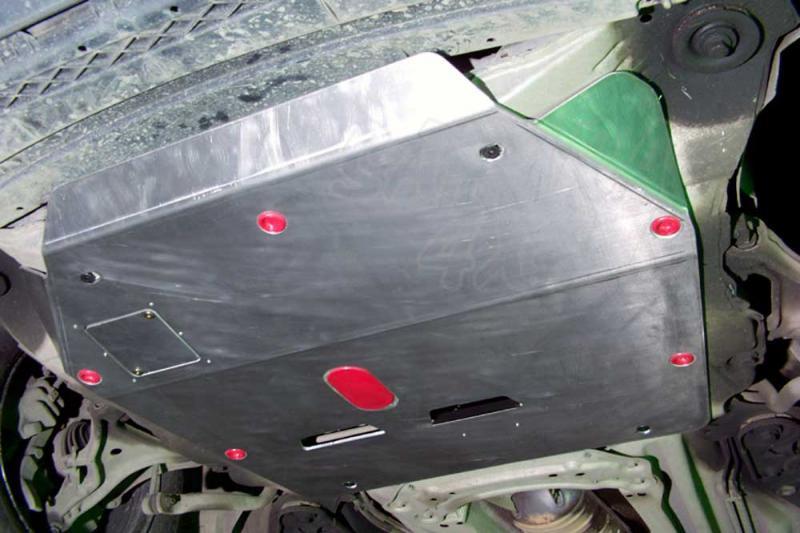 Protección de cárter y caja de cambios en aluminio 5mm para Volvo XC70 2000-2007 -