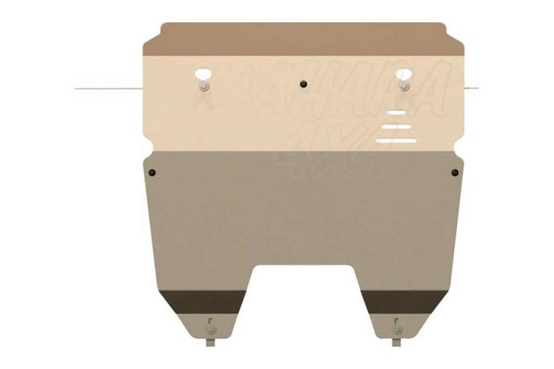 Protección de cárter y caja de cambios en aluminio 5mm Volvo XC90 2003- - 03-15