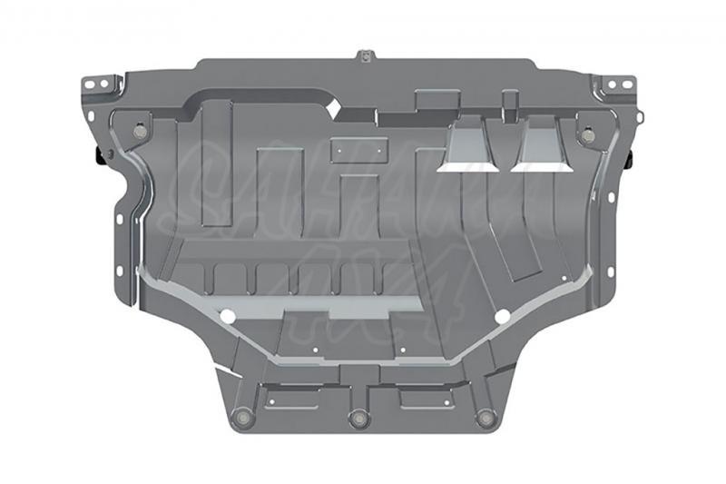 Protección de cárter y caja de cambios en aluminio 3mm (estampado) para Audi Q2 2016-