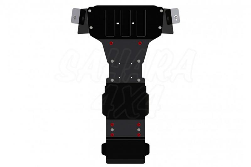 Protector de cárter y caja de cambios en Acero 3mm para Mercedes Sprinter 4x4 2014-2018