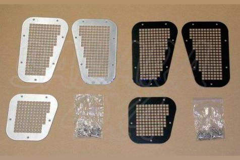 Entradas de aire superiores y lateral en acero inox - Valido para Land rover defender año 1989 - 2013