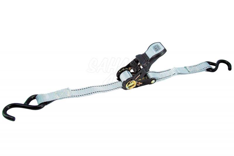 2 cintas tensoras de trinquete 3,50m X 25mm + ganchos - - Carga máxima: 350 kg