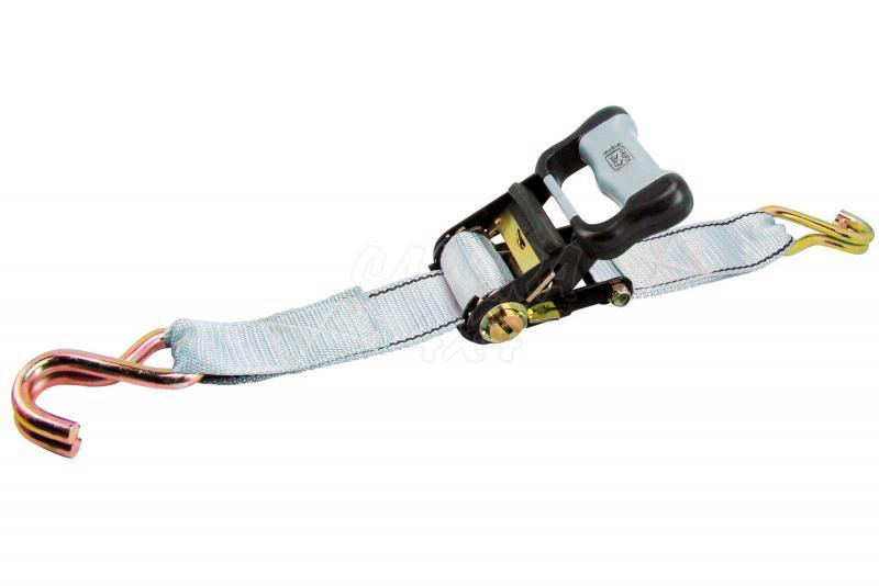 1 cinta tensora de trinquete 5m X 50mm + ganchos - - Carga máxima: 900 kg