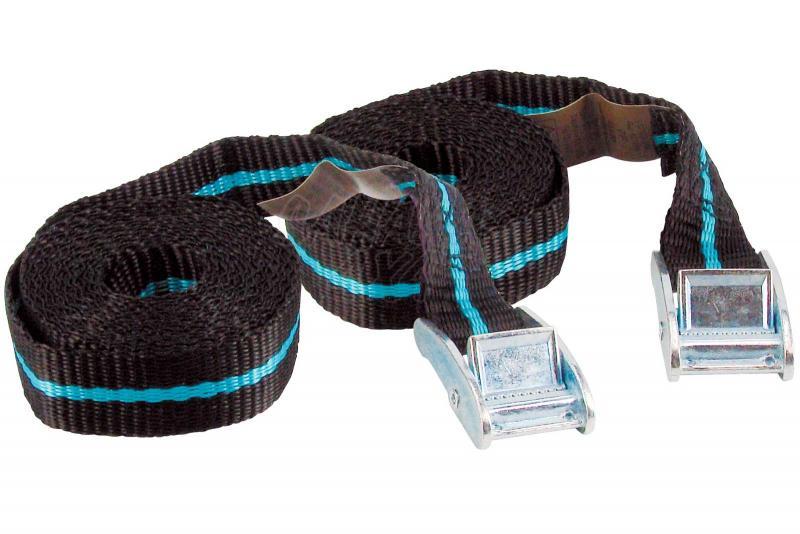 2 cintas tensoras con hebilla 2.5/3.5m - - Carga máxima: 123 kg