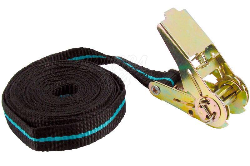 1 cinta tensora de trinquete 5m - - Carga máxima: 123 kg