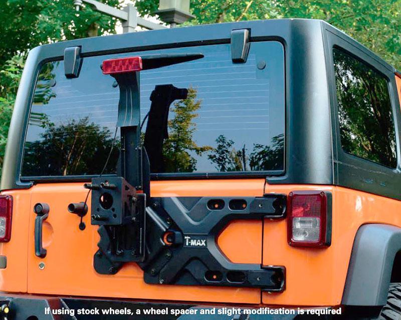 Soporte para rueda de repuesto T-MAX, bisagra HD