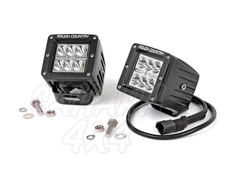 Faros de Led Cuadrados Rough Country (Pareja) - Pareja , 36w, 2880 Lumens