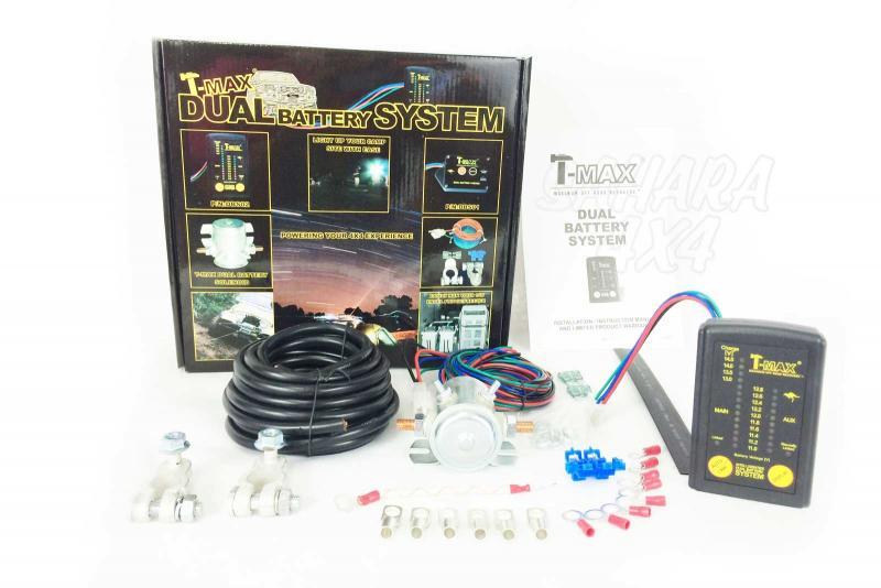 T-MAX, Sistema para Montar doble Bateria con monitor - Dual Battery System