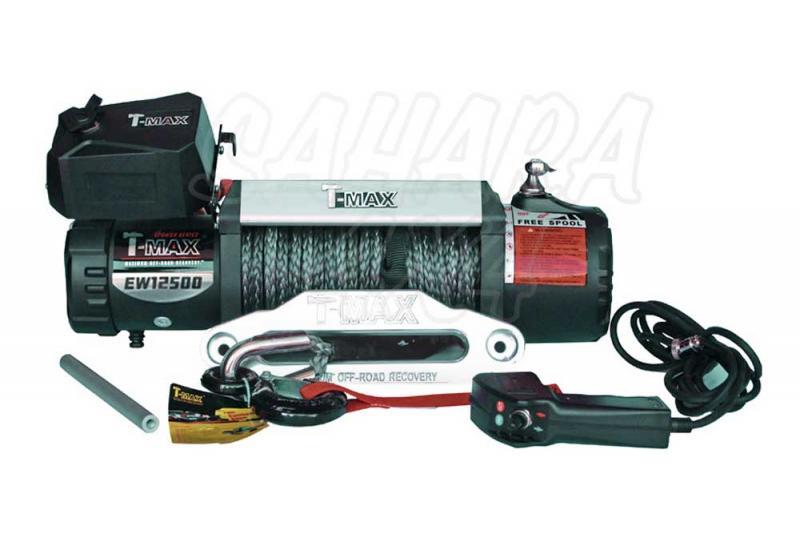 Cabestrante T-MAX X-Power HEW-12500 de 5665Kg - Caja de Reles Separada 5665 Kg de arrastre ,Cable de plasma