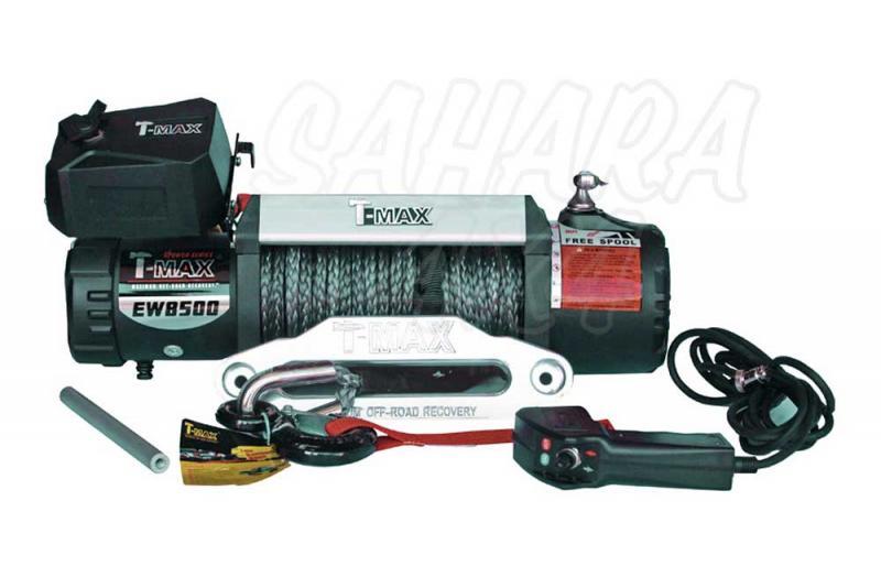 Cabestrante T-MAX X-Power HEW-8500 12V de 3850Kg - Caja de Reles Separada 3850 Kg de arrastre , Cable de plasma