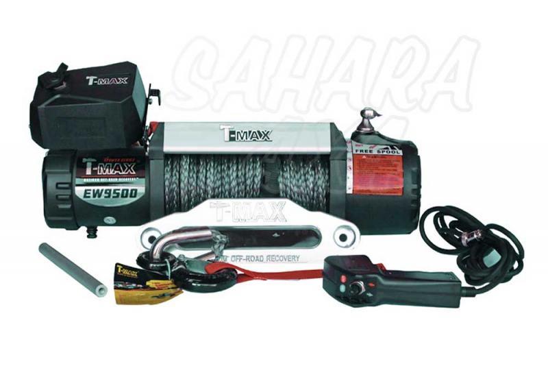 Cabestrante T-MAX X-Power HEW-9500 12V de 4305Kg - 4305 Kg, Caja de reles Separada, Cable de plasma
