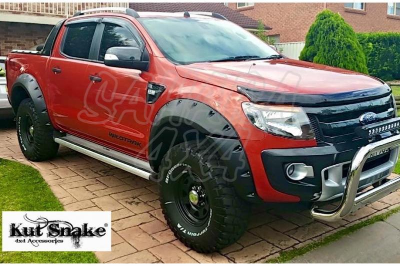 Aletines de Rueda Plastico ABS Ford Ranger PX , Tipo Raptor - +85 mm por rueda