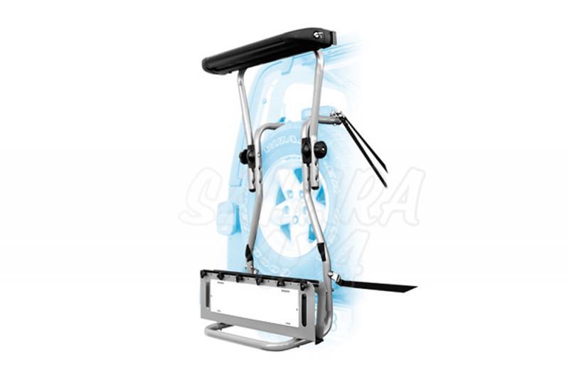 Porta Sky/Snowboard para rueda trasera (5 Pares Sky o 2 Snowboard) - Valido para rueda repuesto trasero.