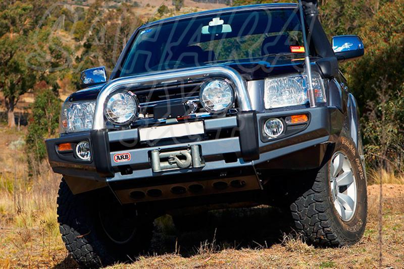 Paragolpes Delantero Sahara Bar ARB Ford Ranger desde 2007 - Seleccione su configuracion , disponible sin barra superior. Los faros van incluidos.