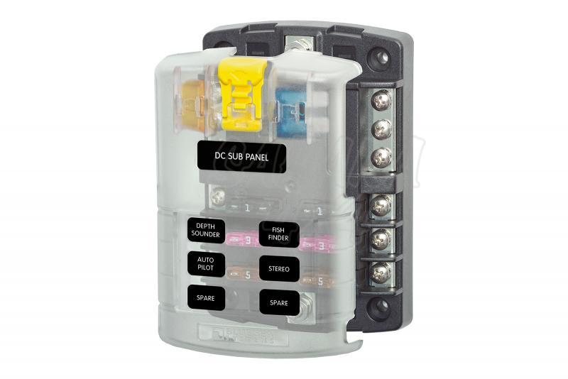 Caja auxiliar para 6 o 12 fusibles