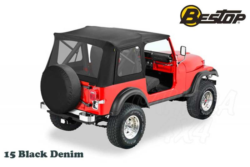 Capota Bestop Recambio para Jeep Wrangler YJ 87-95 , CJ7 76-86 - Color 15 Black Denim