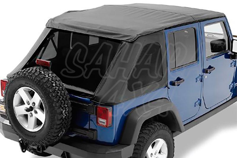 Capota TrekTop NX Bestop Jeep Wrangler JK 5 Puertas - Con Sunrider delantero