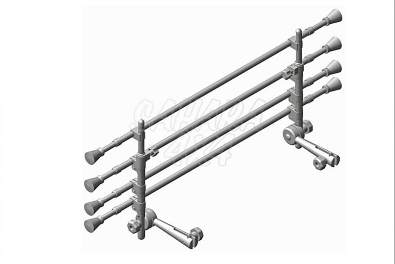 Separador de perros y carga interior universal con 4 barras -
