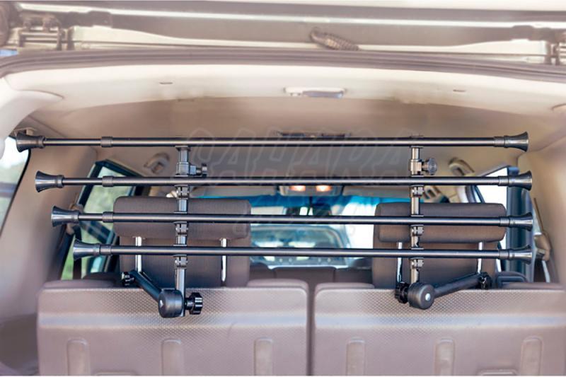 Separador de perros y carga interior universal con 4 barras