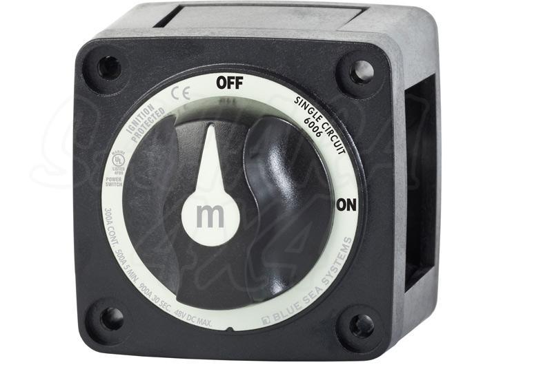 Desconectador de bateria 300 Amp Bluesea. Negro - Desconecte accesorios electricos, utilicelo como antirrobo, etc...