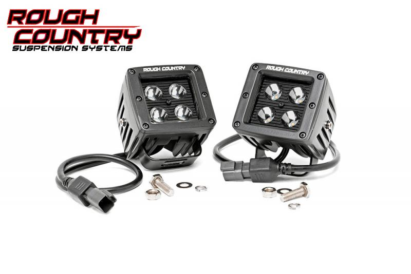 Faros de Led  Rough Country Negro (Pareja) - Pareja , 24w, 1920 Lumens