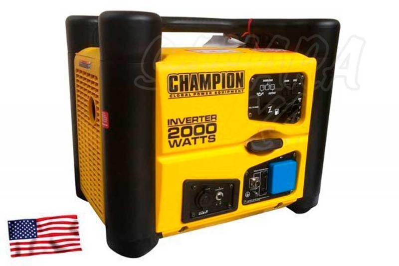 CHAMPION 2000 Watt Generador Inversor ( GASOLINA )  - El generador inversor portátil a gasolina de Champion Power Equipment 72001I-UE, está propulsado por un solo cilindro 80cc CET, motor OHV de 4 tiempos que produce 2000 vatios máx.