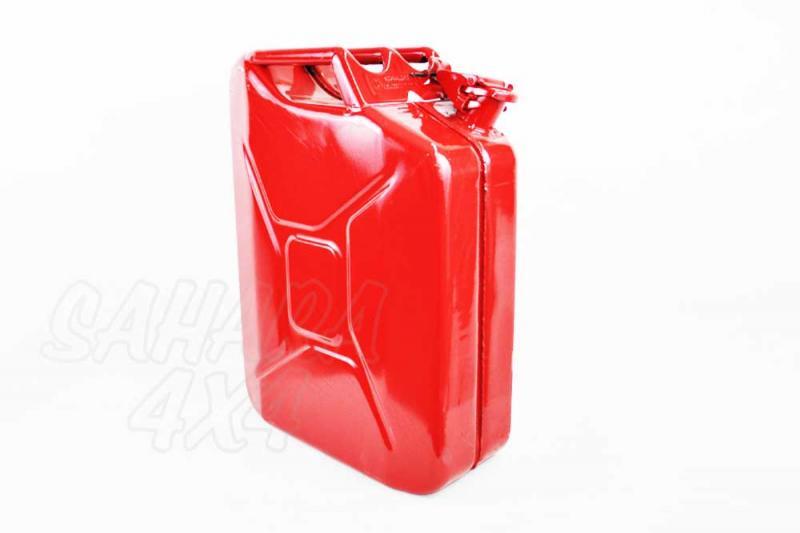 Bidon 20 L metalico tipo Aleman Rojo - Bidon Metalico militar