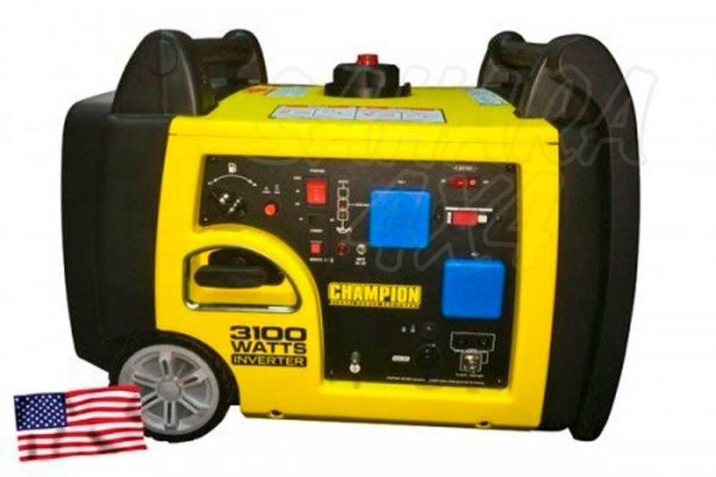 CHAMPION 3100 Watt Generador Inversor ( GASOLINA )  - Este generador inversor portátil de Champion Power Equipment 73001I-UE es alimentado por un solo cilindro de 171cc, motor OHV de 4 tiempos que produce 3100 vatios máx.