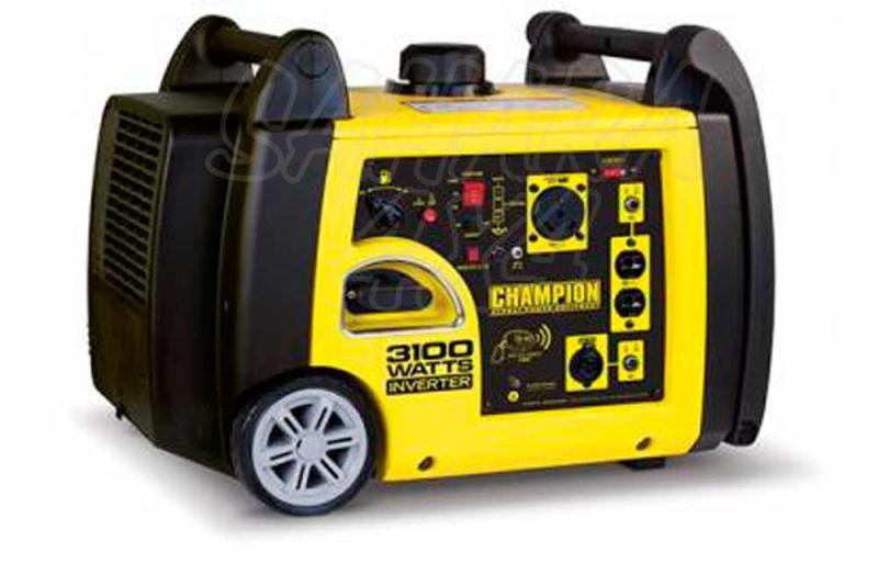 CHAMPION 3100 Watt Generador Inversor PREMIER ( GASOLINA )  - Este generador inversor portátil de Champion Power Equipment 73001I-UE es alimentado por un solo cilindro de 171cc, motor OHV de 4 tiempos que produce 3100 vatios máx.