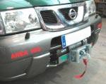 Soporte de Cabrestante Semi-Oculto Nissan Terrano II  - Fabricado en Acero 3mm.